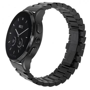SmartWatch VECTOR Watch Luna, negru satinat, bratara metalica
