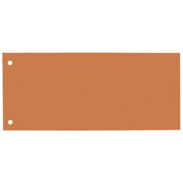Separatoare din carton, 240 x 105mm, portocaliu, 100 buc/set, ELBA