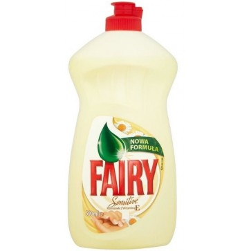 Detergent de vase FAIRY Sensitive Chamomile and Vitamin E, 500ml