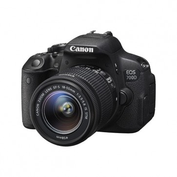 Camera foto digitala CANON EOS700D + obiectiv EF 18-55 IS STM, 18 Mp, 3 inch, negru