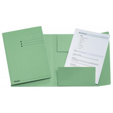 Dosar din carton, plic, 250 g/mp, verde, ESSELTE