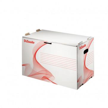 Container pentru arhivare bibliorafturi, 525 x 338 x 306mm, alb, ESSELTE