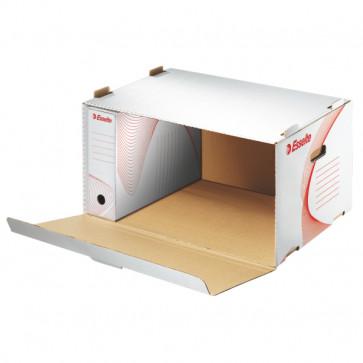 Container pentru arhivare, cu deschidere laterala, 510 x 365 x 275 mm, alb, ESSELTE