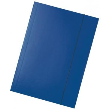 Mapa din carton plastifiat, A4, cu elastic, albastru inchis, ESSELTE Economy