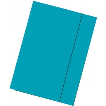 Mapa din carton plastifiat, A4, cu elastic, albastru deschis, ESSELTE Economy
