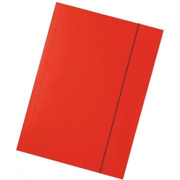 Mapa din carton plastifiat, A4, cu elastic, rosu, ESSELTE Economy