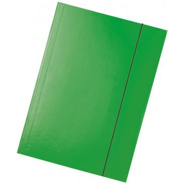 Mapa din carton plastifiat, A4, cu elastic, verde, ESSELTE Economy