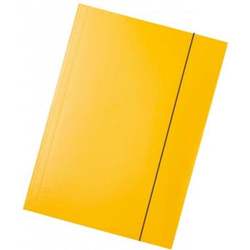 Mapa din carton plastifiat, A4, cu elastic, galben, ESSELTE Economy