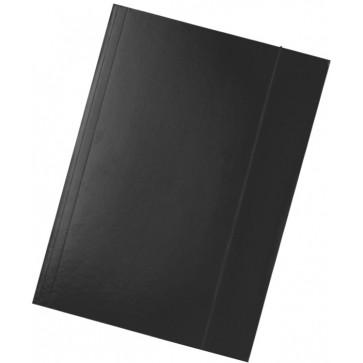 Mapa din carton plastifiat, A4, cu elastic, negru, ESSELTE Economy