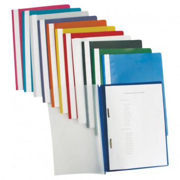 Dosar din plastic, cu sina, albastru inchis, 25 bucati/pachet, ESSELTE Standard