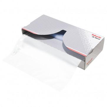 File din plastic, A4, transparent, cu dispenser, 46 mic., 50 bucset, ESSELTE