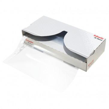 File din plastic, A4, transparent cristal, cu dispenser, 55 mic., 40 bucset, ESSELTE