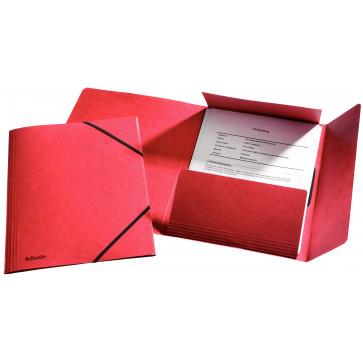 Mapa din carton, A4, cu elastic, rosu, ESSELTE LUX