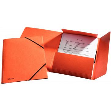 Mapa din carton, A4, cu elastic, portocaliu, ESSELTE LUX