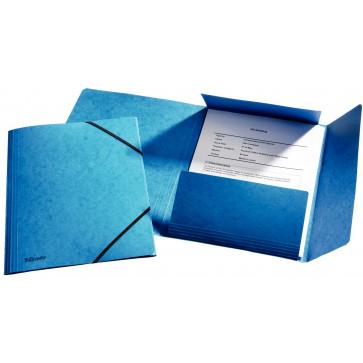 Mapa din carton plastifiat, A4, cu elastic, albastru, ESSELTE Rainbow