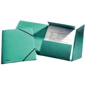 Mapa din carton, A4, cu elastic, verde, ESSELTE LUX