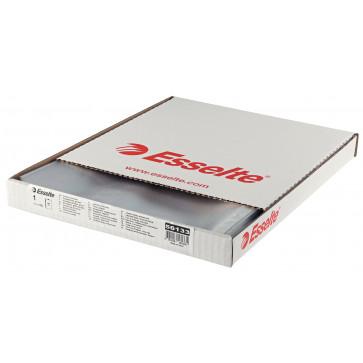 File din plastic, A4, transparent, deschidere in L, 75 mic., 100 buc/cutie ESSELTE
