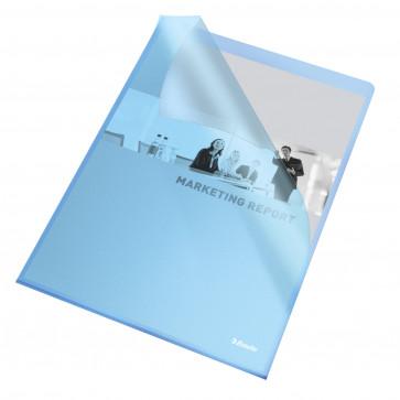 Mapa de protectie, A4, albastru transparent, 105 mic., 25 buc/set ESSELTE