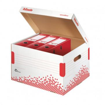 Container pentru arhivare bibliorafturi, 334 x 301 x 392mm, ESSELTE Speedbox