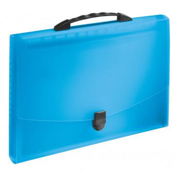 Mapa proiect din plastic, cu maner, albastru, ESSELTE Vivida