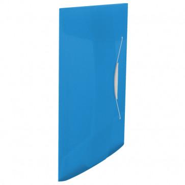 Mapa din plastic, A4, cu elastic, albastru, ESSELTE Vivida