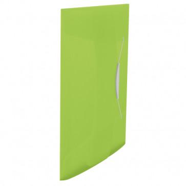 Mapa din plastic, A4, cu elastic, verde, ESSELTE Vivida