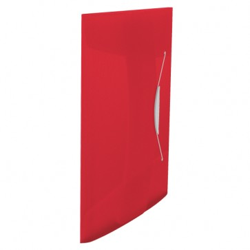 Mapa din plastic, A4, cu elastic, rosu, ESSELTE Vivida
