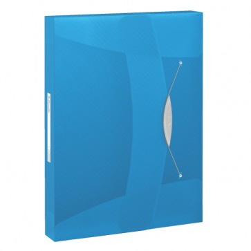 Mapa din plastic, A4, cu elastic, albastru, ESSELTE Jumbo Vivida