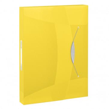 Mapa din plastic, A4, cu elastic, galben, ESSELTE Jumbo Vivida