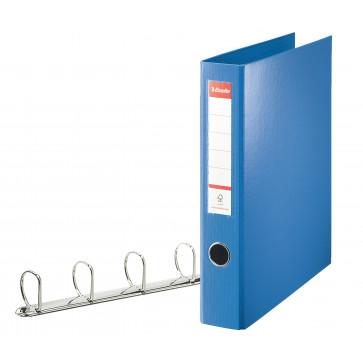 Caiet mecanic, A4, 4 inele, 5.8cm, albastru, ESSELTE Jumbo