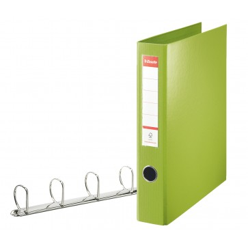 Caiet mecanic, A4, 4 inele tip D, inel 40 mm, 5.8cm, verde, ESSELTE Jumbo