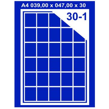 Etichete autoadezive albe, 30/A4, 70 x 29.7mm, 100coli/top, PLUSS