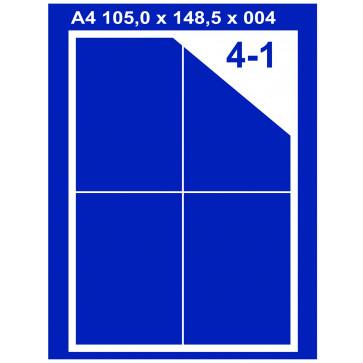 Etichete autoadezive albe, 4/A4, 105 x 148.5mm, 100coli/top, PLUSS