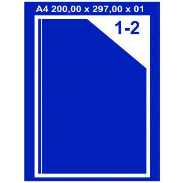 Etichete autoadezive albe, 1/A4, 200 x 297mm, 100coli/top, PLUSS