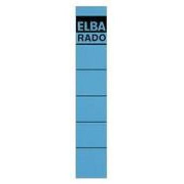 Etichete autoadezive pt. bibliorafturi, 34 x 190mm, albastru, 10 buc/set, ELBA