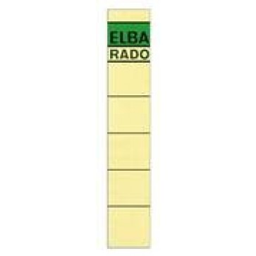 Etichete autoadezive pt. bibliorafturi, 34 x 190mm, crem, 10 buc/set, ELBA