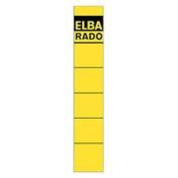Etichete autoadezive pt. bibliorafturi, 34 x 190mm, galben, 10 buc/set, ELBA