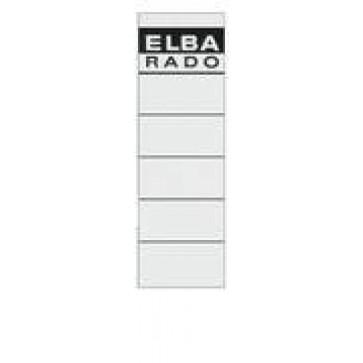 Etichete autoadezive pt. bibliorafturi, 58 x 190mm, alb, 10 buc/set, ELBA