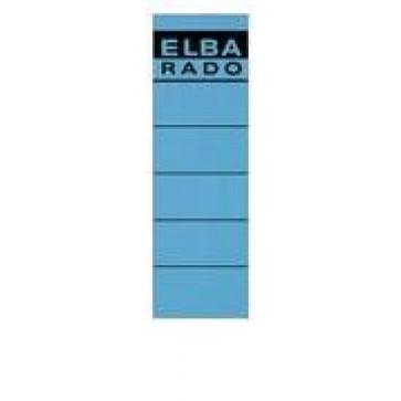 Etichete autoadezive pt. bibliorafturi, 58 x 190mm, albastru, 10 buc/set, ELBA