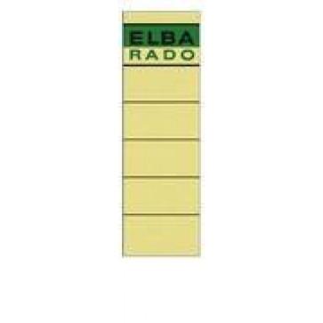 Etichete autoadezive pt. bibliorafturi, 58 x 190mm, crem, 10 buc/set, ELBA