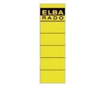 Etichete autoadezive pt. bibliorafturi, 58 x 190mm, galben, 10 buc/set, ELBA