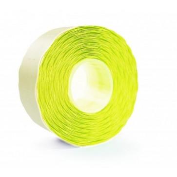 Etichete autoadezive pt. marcatoare, 26 x 12mm, 1500 etichete/rola, galben fluorescent, PRIX