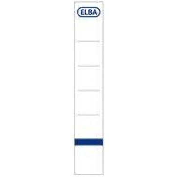 Etichete pentru bibliorafturi, 30 x 190mm, alb, 10 buc/set, ELBA