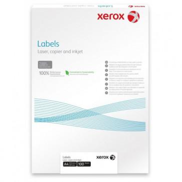 Etichete autoadezive albe, colturi rotunde, 18/A4, 63.5 x 46.6mm, 100 coli/top, XEROX