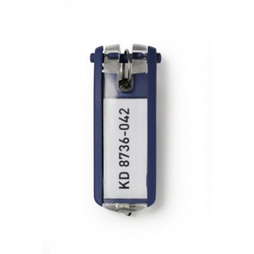 Etichete pentru chei, albastru, 6 buc/set, DURABLE