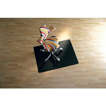 Protectie podea pentru suprafete dure, 90 x 120cm, negru, RS OFFICE