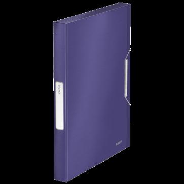 Mapa din plastic, A4, cu elastic, albastru-violet, LEITZ Jumbo Style