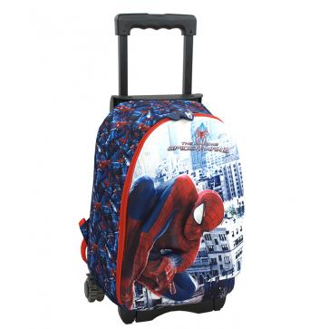Ghiozdan scolar, 1-4, 2 compatimente, troller detasabil, PIGNA Spiderman