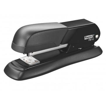 Capsator de birou metalic, pentru maxim 25 coli, capse 24-26/6, negru, RAPID FM12 Halfstrip