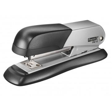 Capsator metalic de birou, pentru maxim 25 coli, capse 24-26/6, argintiu, RAPID FM12 Halfstrip